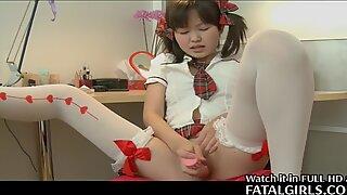 Japán Cuki Lány punci-vel játszik