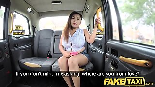 fake taxi Thai massagist with big tits works her magic