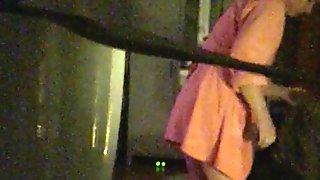 Hidden cam window Ass pussy