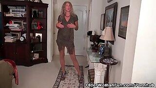 yankee cougar Lauren Demille flaunts her tanned figure