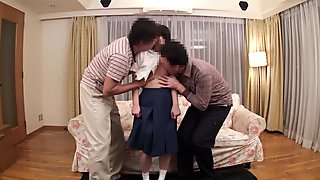 Best Japanese model in Horny Threesome, HD JAV video