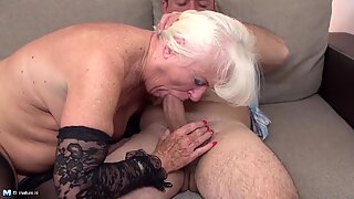 mommy and grandmother get pulverized in their mature holes