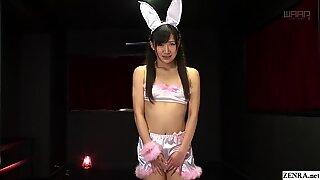 JAV star Maki Hoshikawa bunny anal plug blowjob Subtitled
