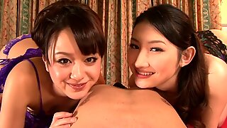 Two girls Blowjob POV