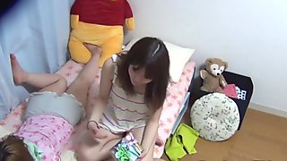 Teen asian spied pissing