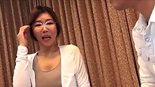 korean glasses girl in japanese porn