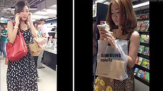 Kigge op kjoler fra 2 flot damer shopping