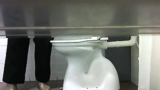 Hidden Cam Toilet Woman Pees WC005