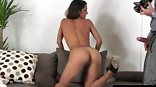Casting babe throated and fucked at audition