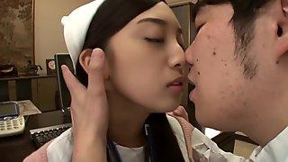 Hottest Japanese girl in Amazing Nurse, Teens JAV clip