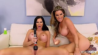 MILF Lesbians Scissoring Before Masturbating With Toys and 69ing
